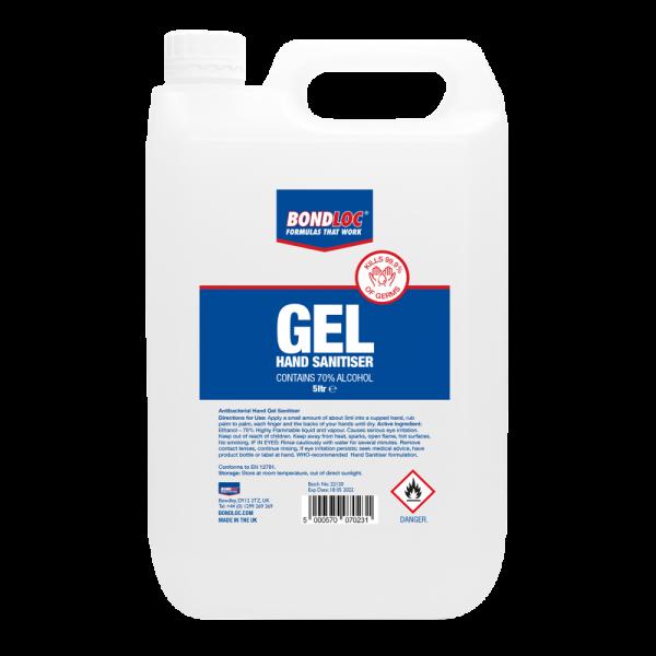Hand Sanitiser 70% 5 Litre Gel Jerrycan Refill